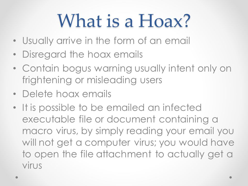 What is a Hoax.