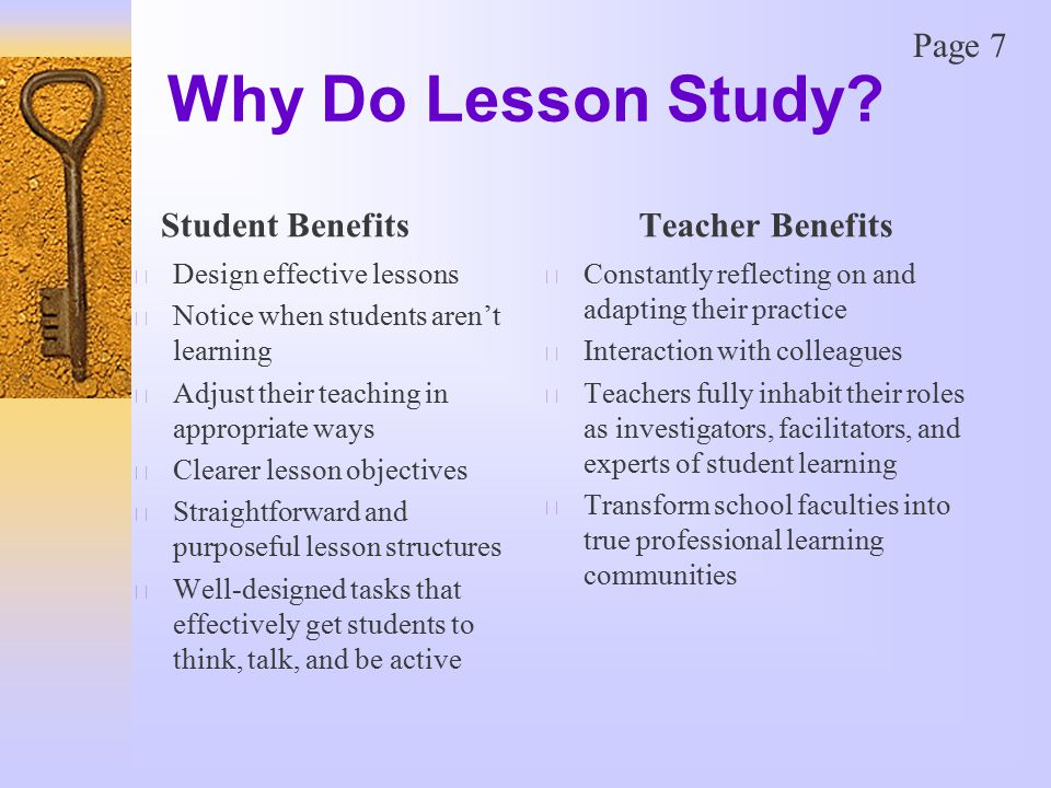 Why Do Lesson Study.