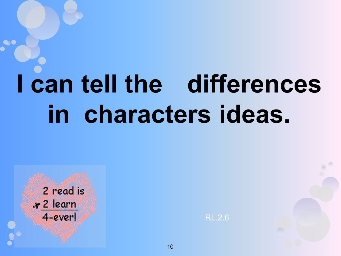 I can tell the differences in characters ideas. RL