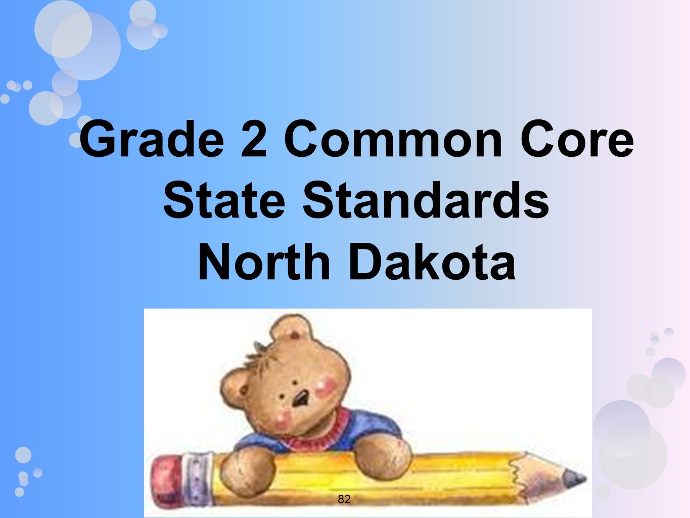 Grade 2 Common Core State Standards North Dakota 82