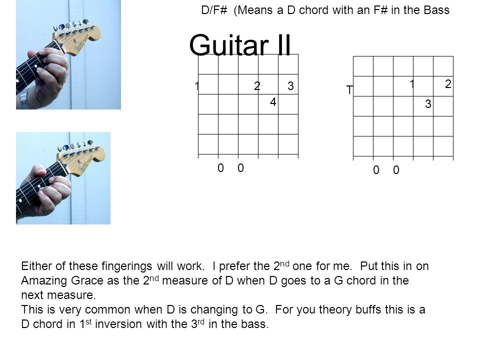 Guitar I and Guitar II Class 5 The A and E7 chords. As a review ...