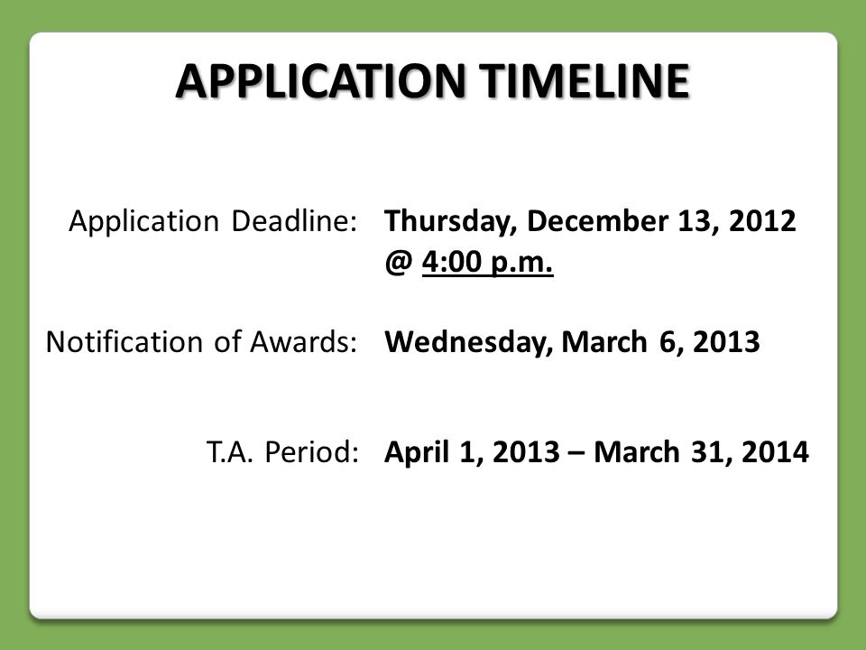 Application Deadline:Thursday, December 13, 4:00 p.m.