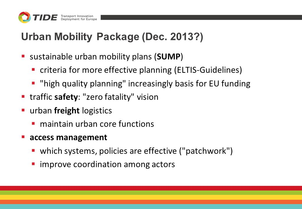Urban Mobility Package (Dec.