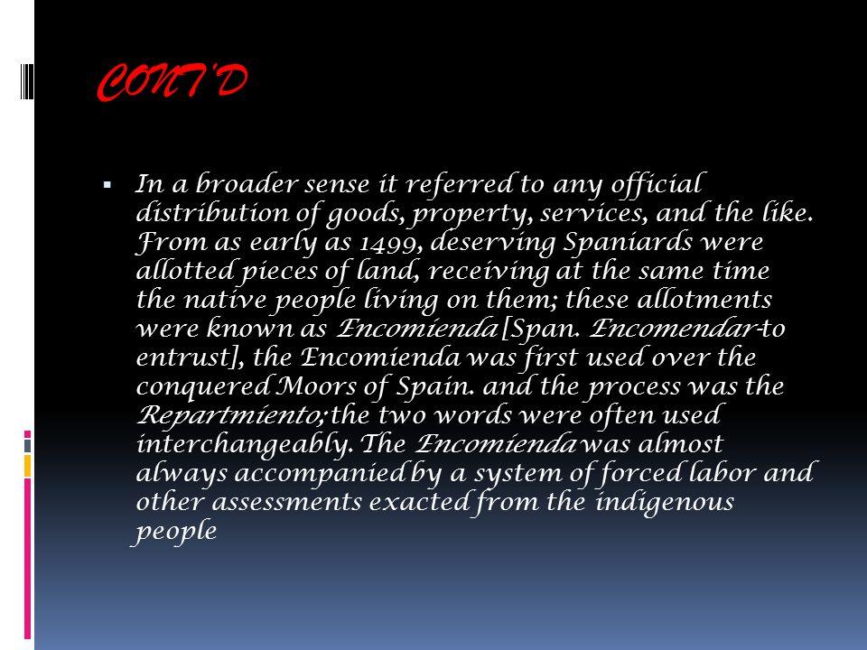 encomienda system the encomienda system maybe described as a