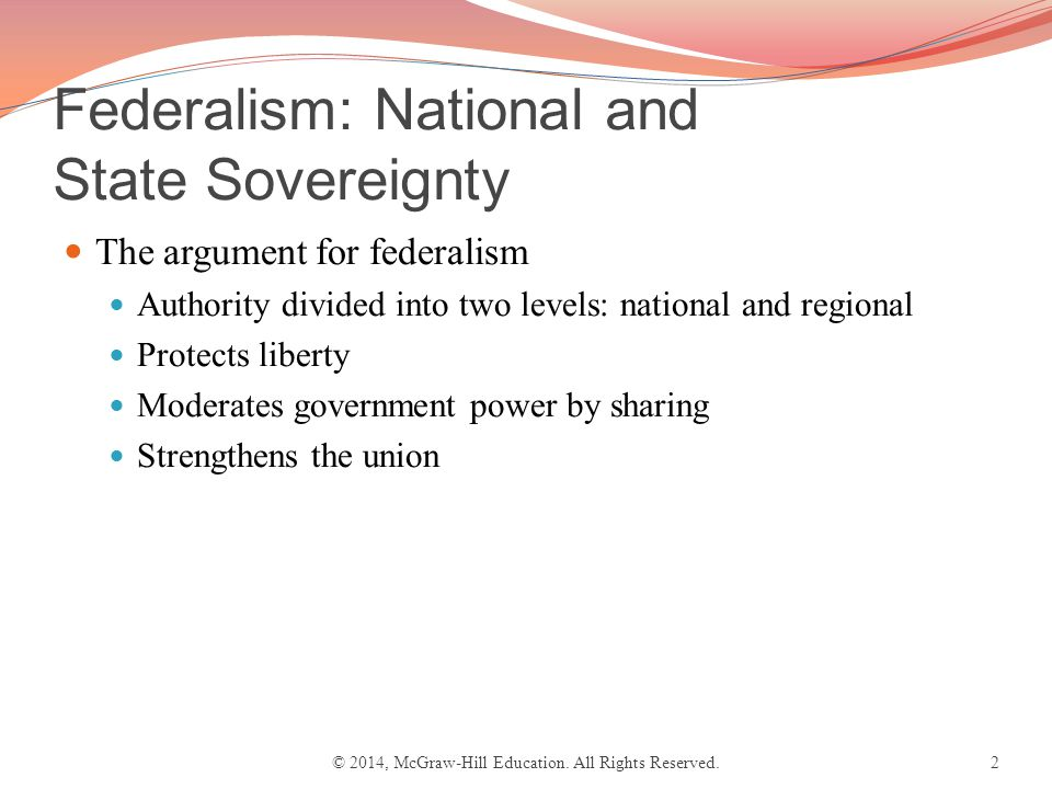 Chapter 3 Federalism National And State Sovereignty The
