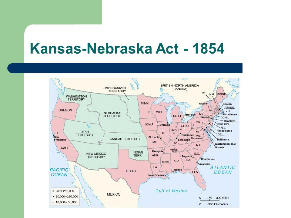 Toward civil war missouri compromise applied to louisiana territory 8 kansas nebraska act 1854 sciox Choice Image