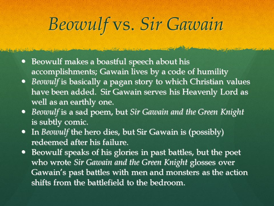 beowulf and sir gawain and the green knight