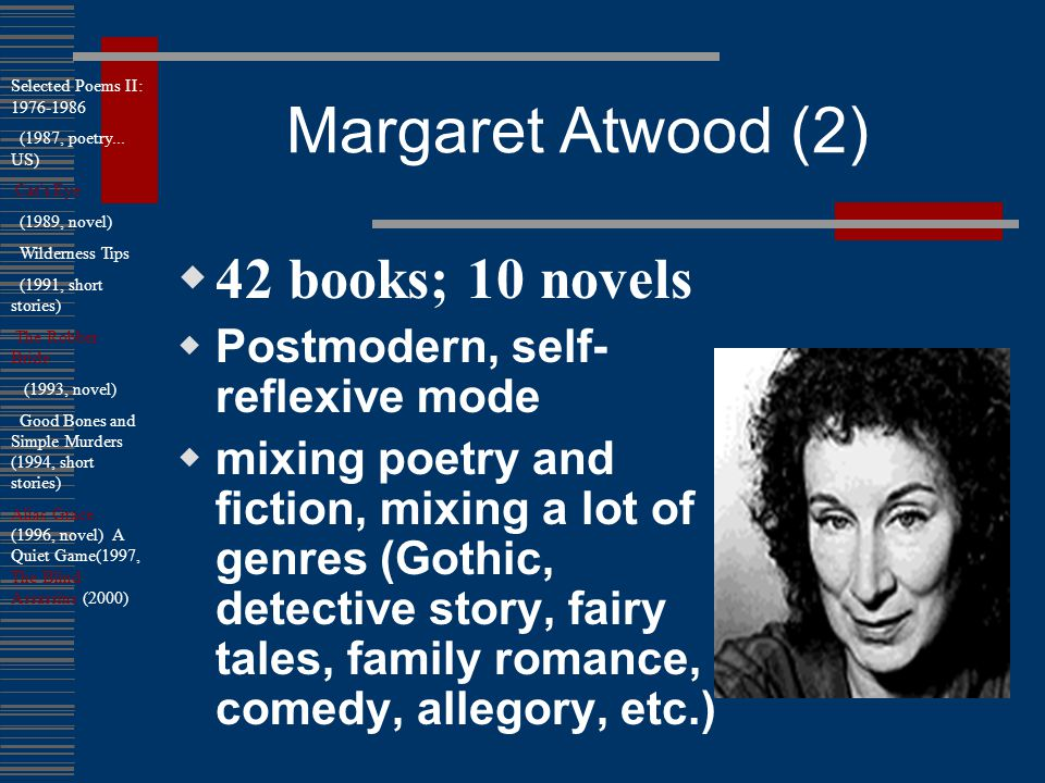 the narrators abortion started the process of her mental transformation margaret atwoods surfacing e The use of literary films in foreign language teaching (flt) has been and still is immensely popular the following contribution deals with the problem of learning a foreign language through literary films at the advanced stage.