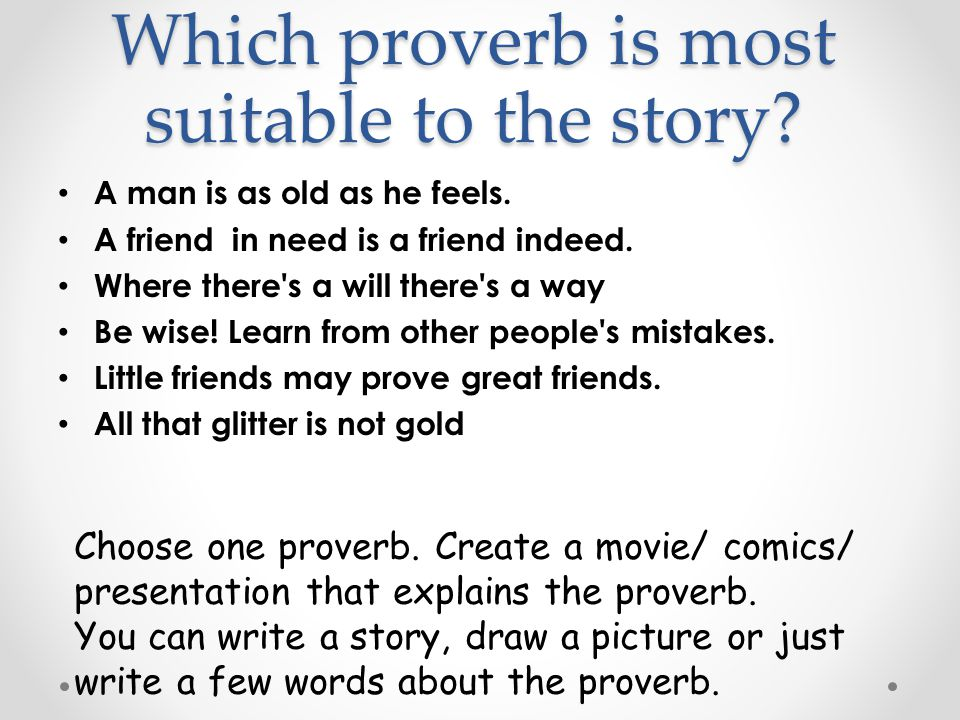 story based proverb all glitters not gold