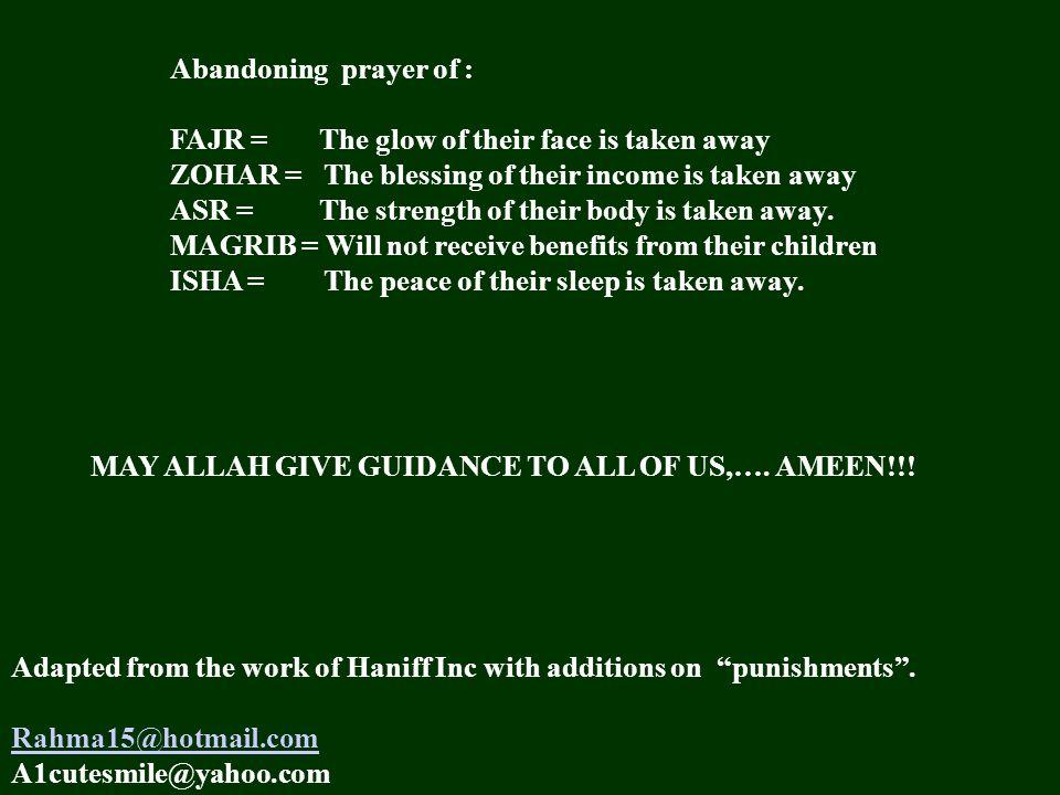 Physical / Spiritual Benefits of Prayers  (Salaat) Prayer is