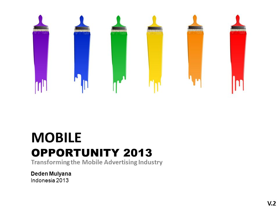 Deden Mulyana Indonesia 2013 Transforming the Mobile Advertising Industry V.2 MOBILE OPPORTUNITY 2013