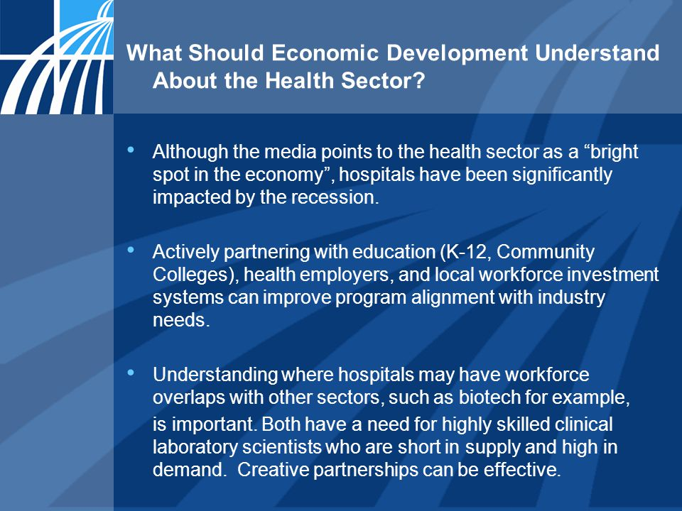What Should Economic Development Understand About the Health Sector.
