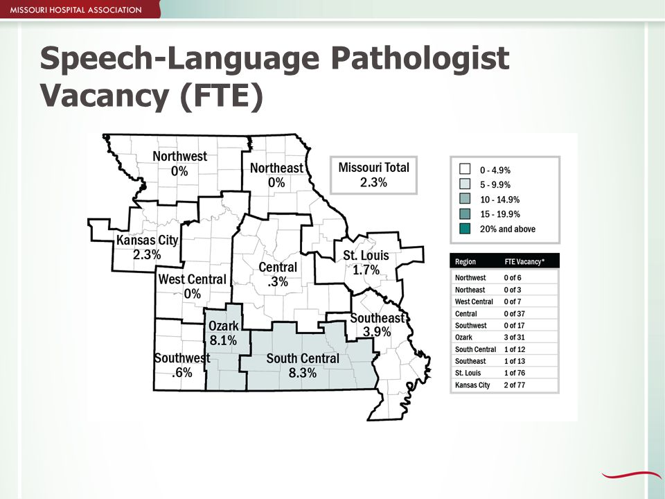 Speech-Language Pathologist Vacancy (FTE)