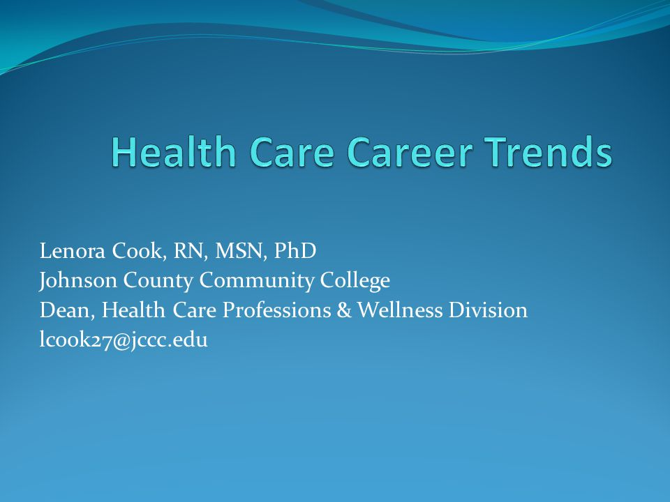 Lenora Cook, RN, MSN, PhD Johnson County Community College Dean, Health Care Professions & Wellness Division