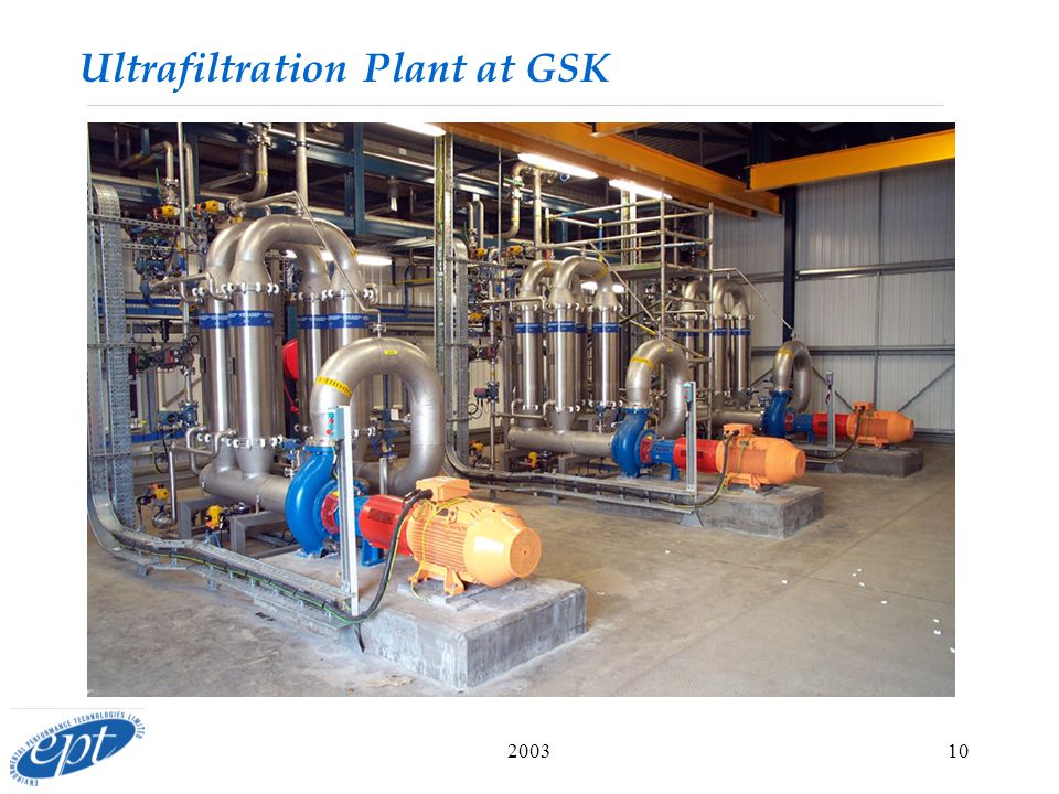 Ultrafiltration Plant at GSK