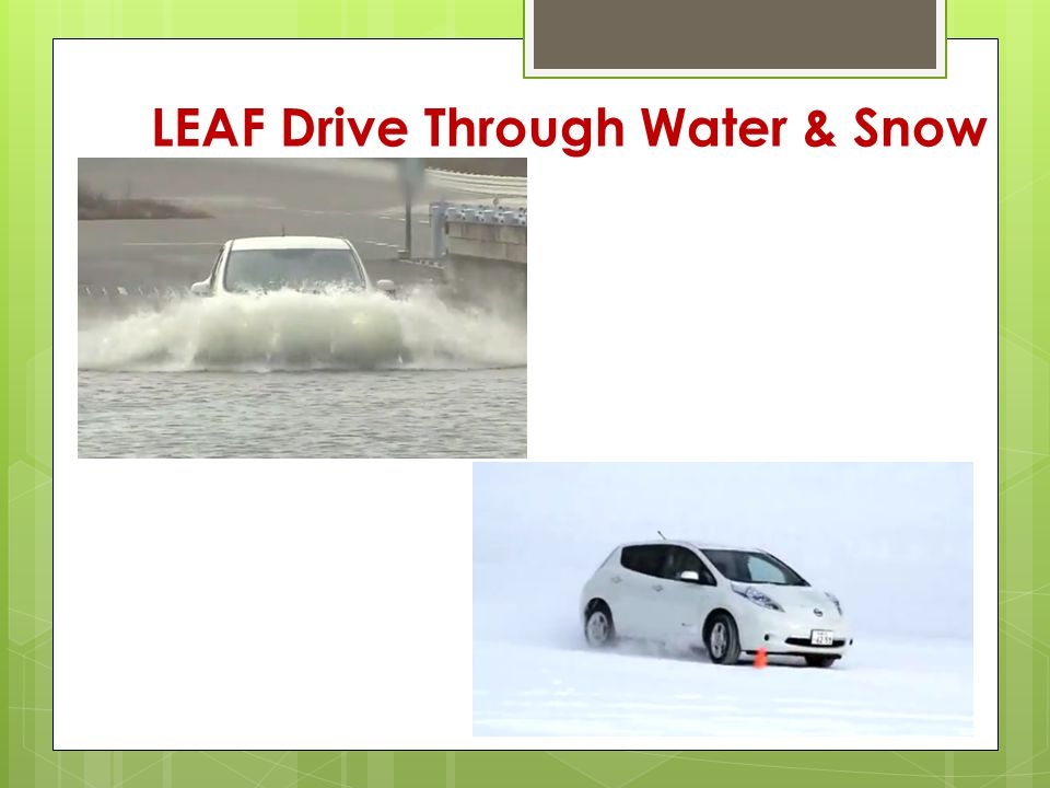 LEAF Drive Through Water & Snow