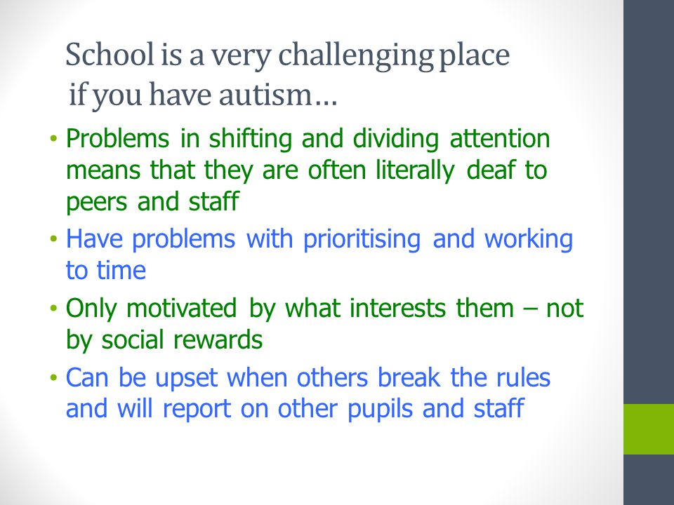 Problems With Attention Not Autism >> Enhancing Provision For Children On The Autism Spectrum Dr Glenys