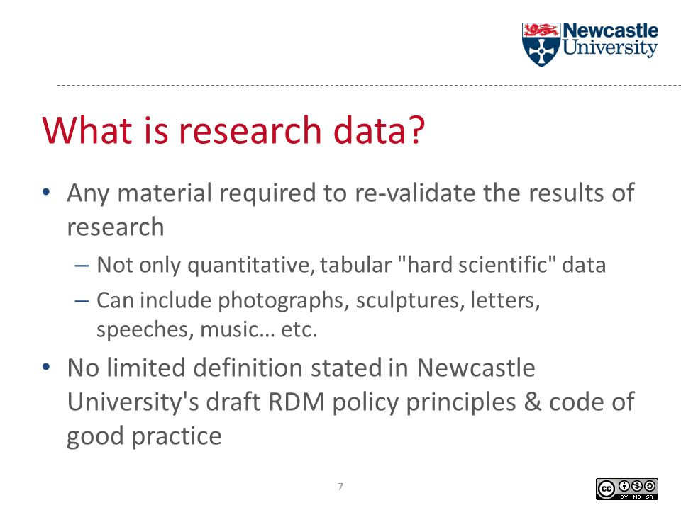 What is research data.