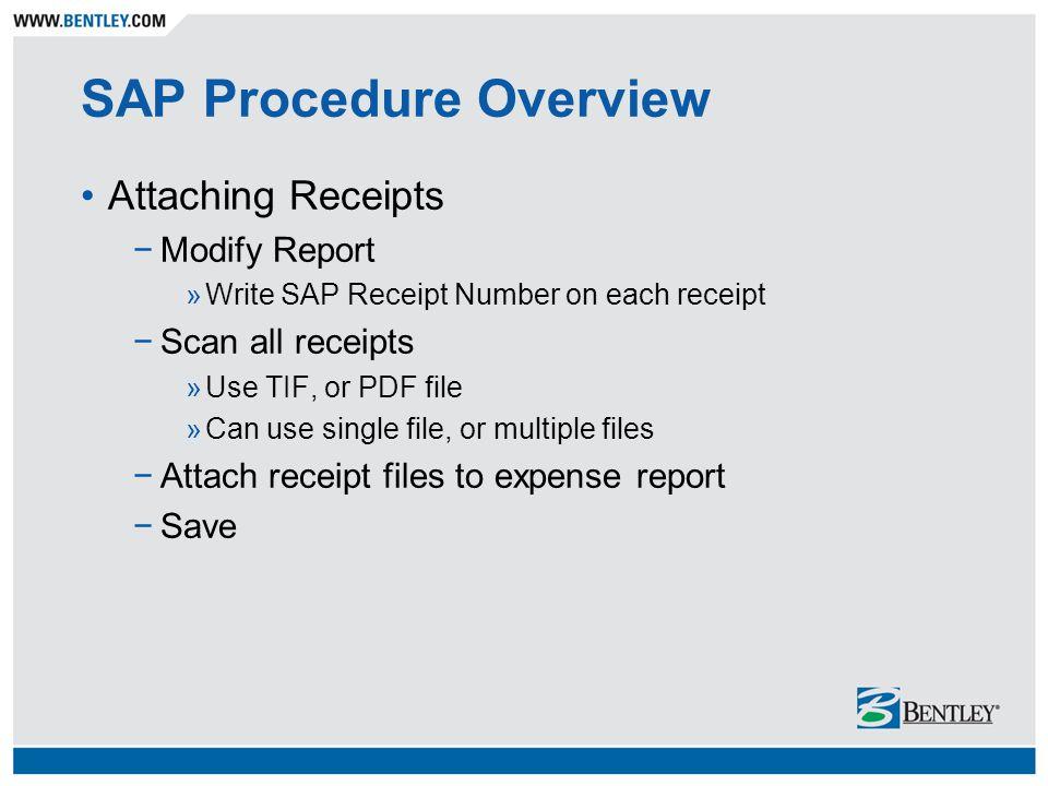 gary cochrane sap expense report procedure sap procedure overview