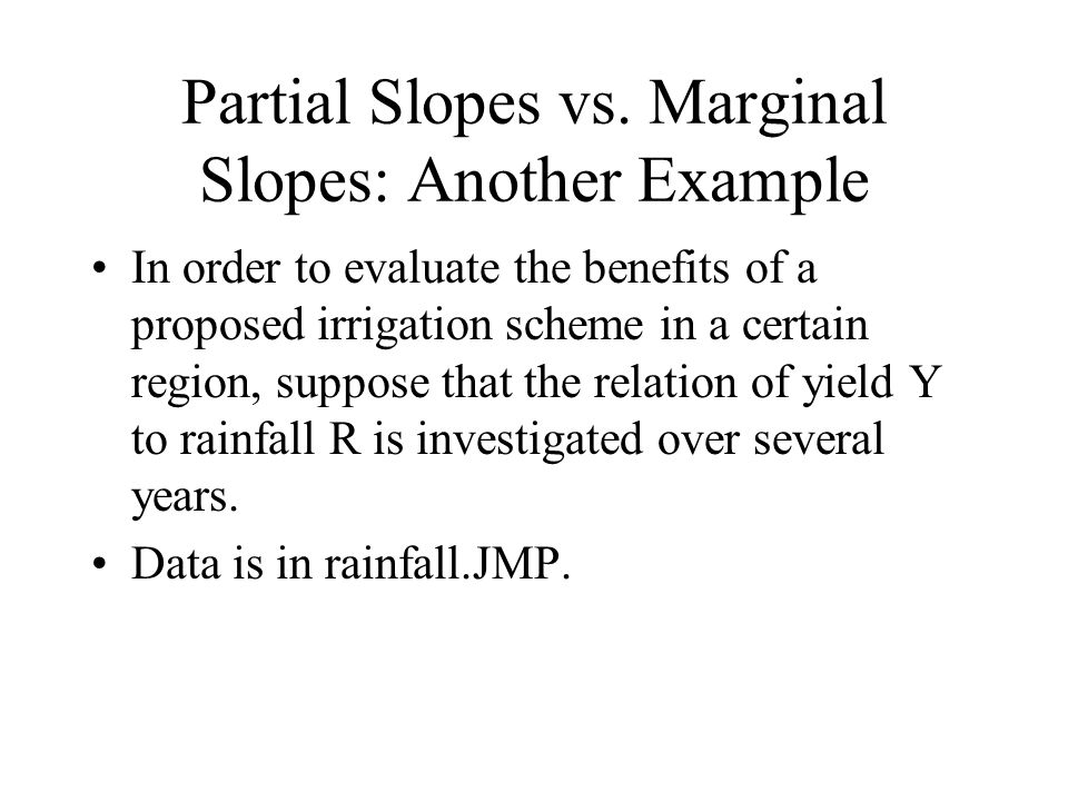 Partial Slopes vs.