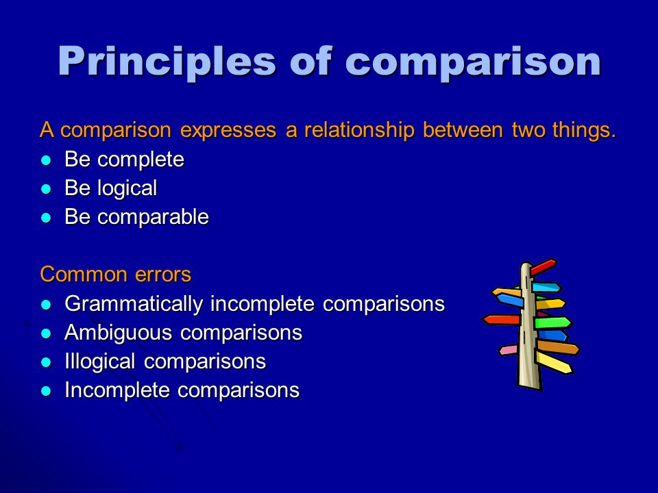 Illogical Comparison Complied By Ms Terri Yueh Principles Of