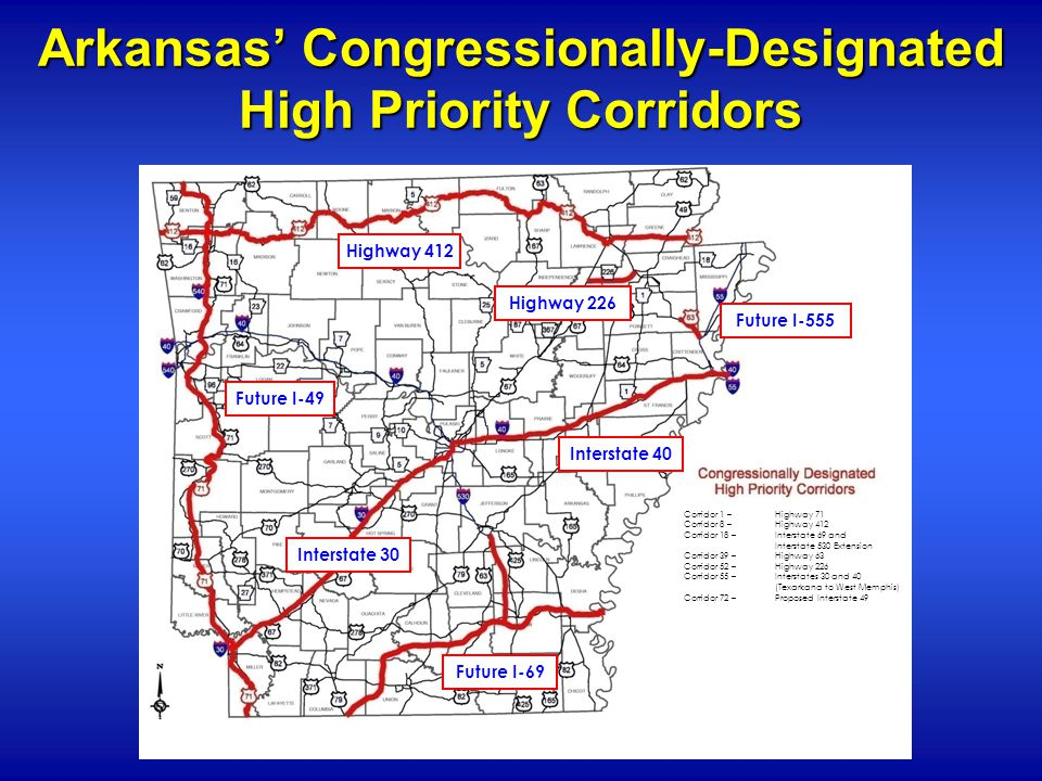 Interstate 69 Arkansas Map.Blue Ribbon Committee On Highway Finance Act 374 Of Ppt Download