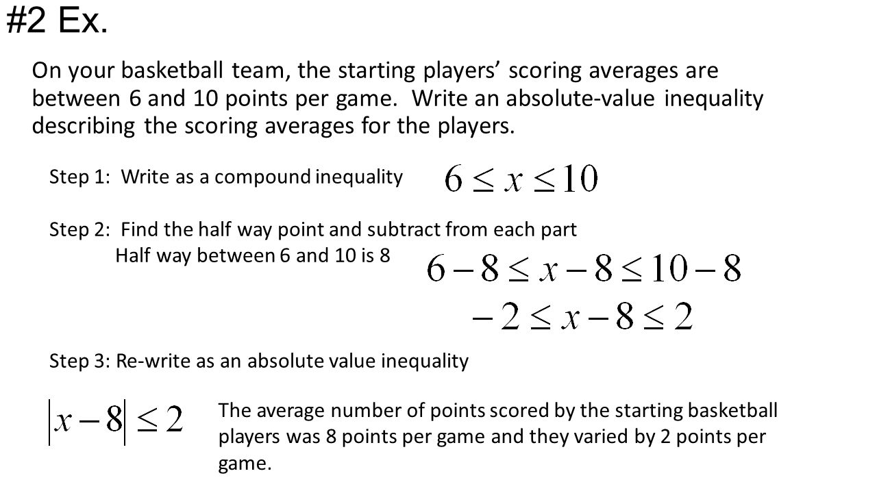 Absolute Value Inequalities Word Problems  Write an equation