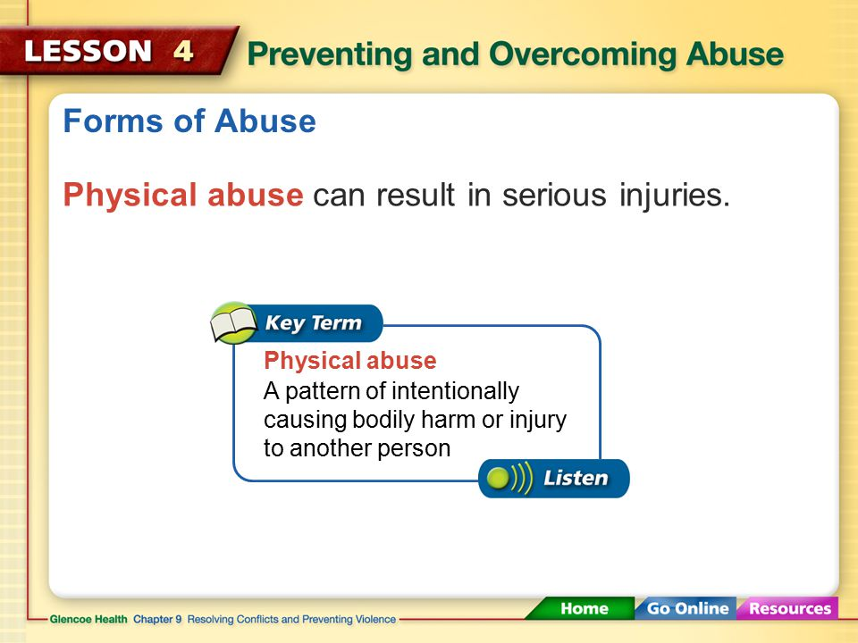 Forms of Abuse Physical Abuse Emotional Abuse Sexual Abuse Stalking