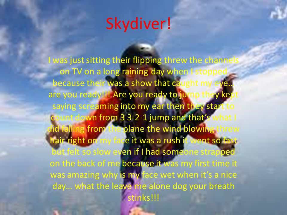 Skydiver.