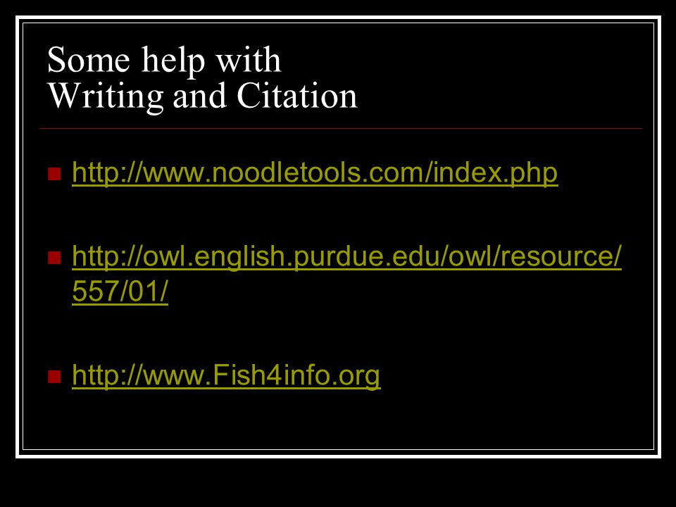 Some help with Writing and Citation /01/   557/01/