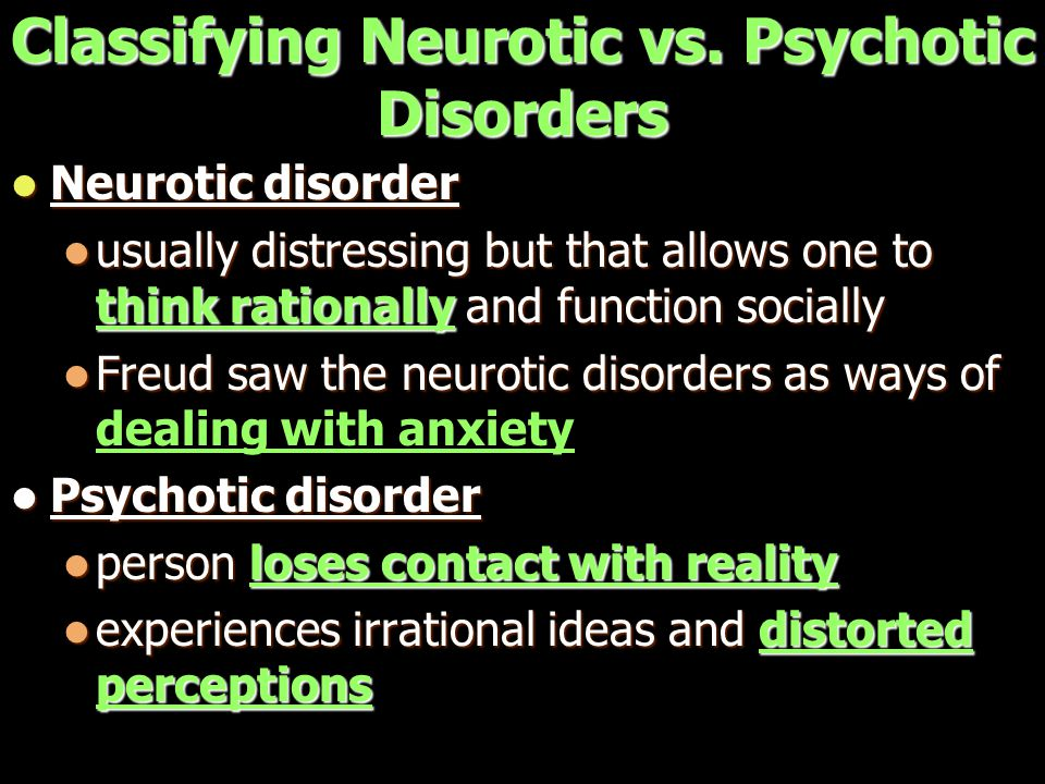 Classifying Neurotic vs.