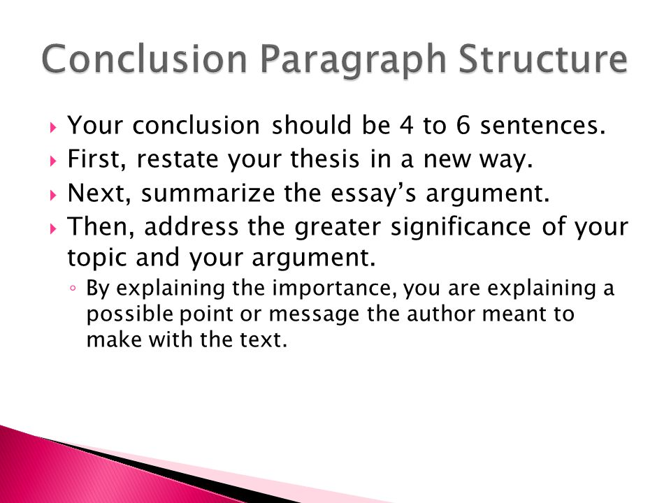 conclusion example for assignment