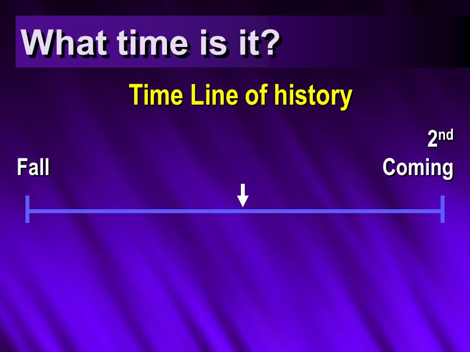 What time is it Time Line of history Fall 2 nd Coming