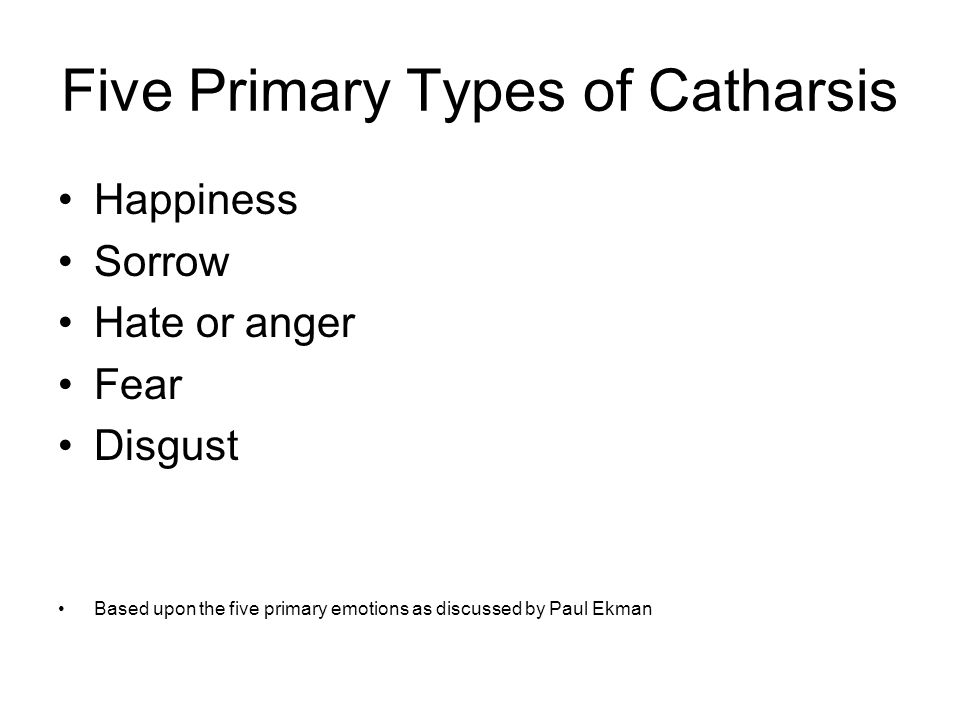 five primary emotions