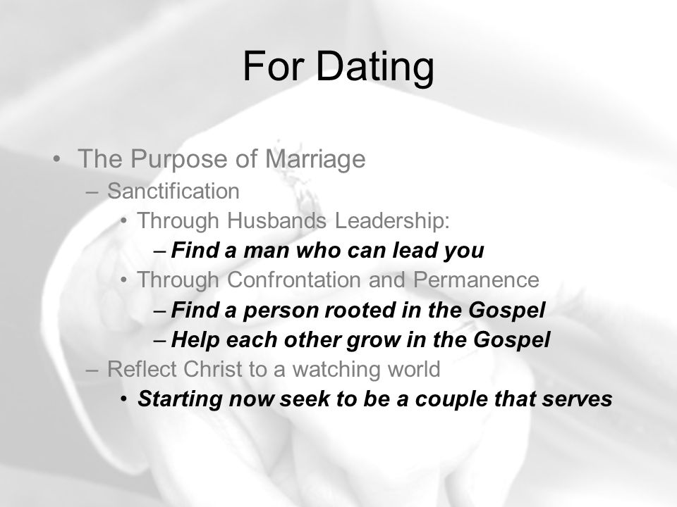 dating that leads to marriage