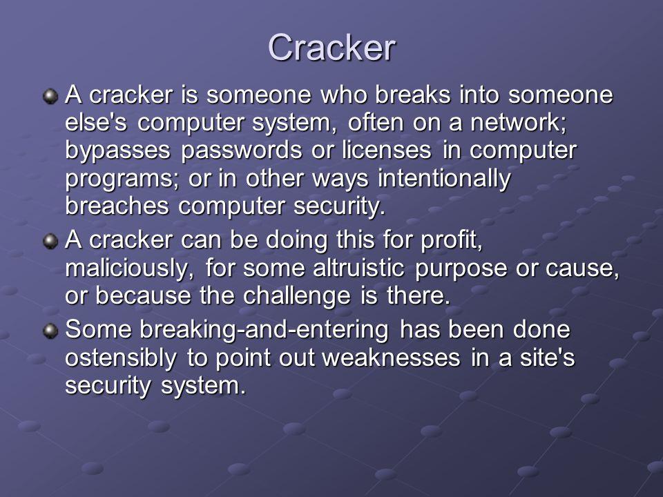 cracker definition computer