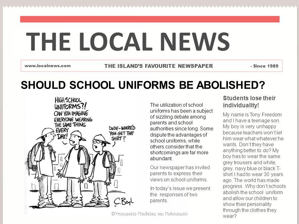 why high school students should wear uniforms