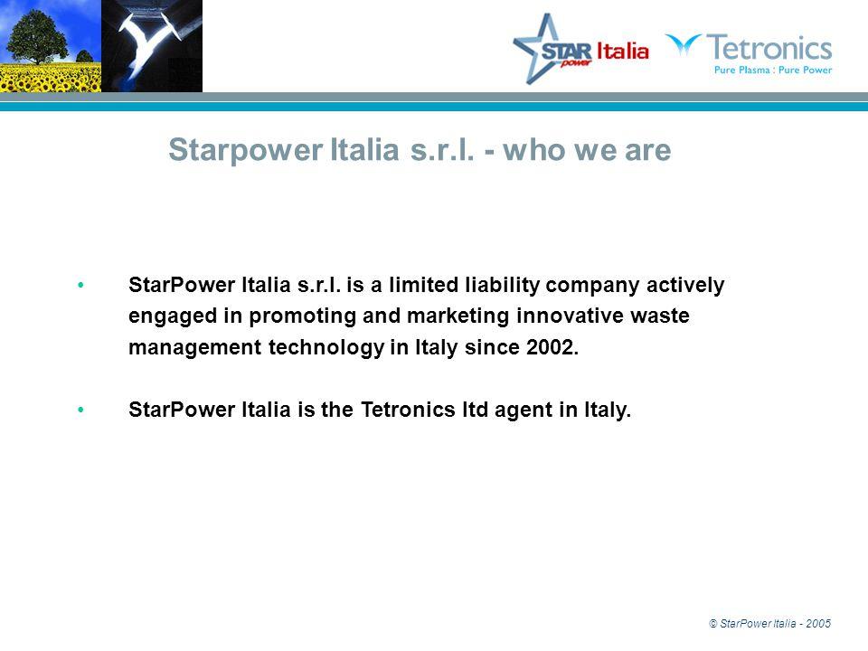 StarPower Italia Plasma Special Waste Treatment Tetronics