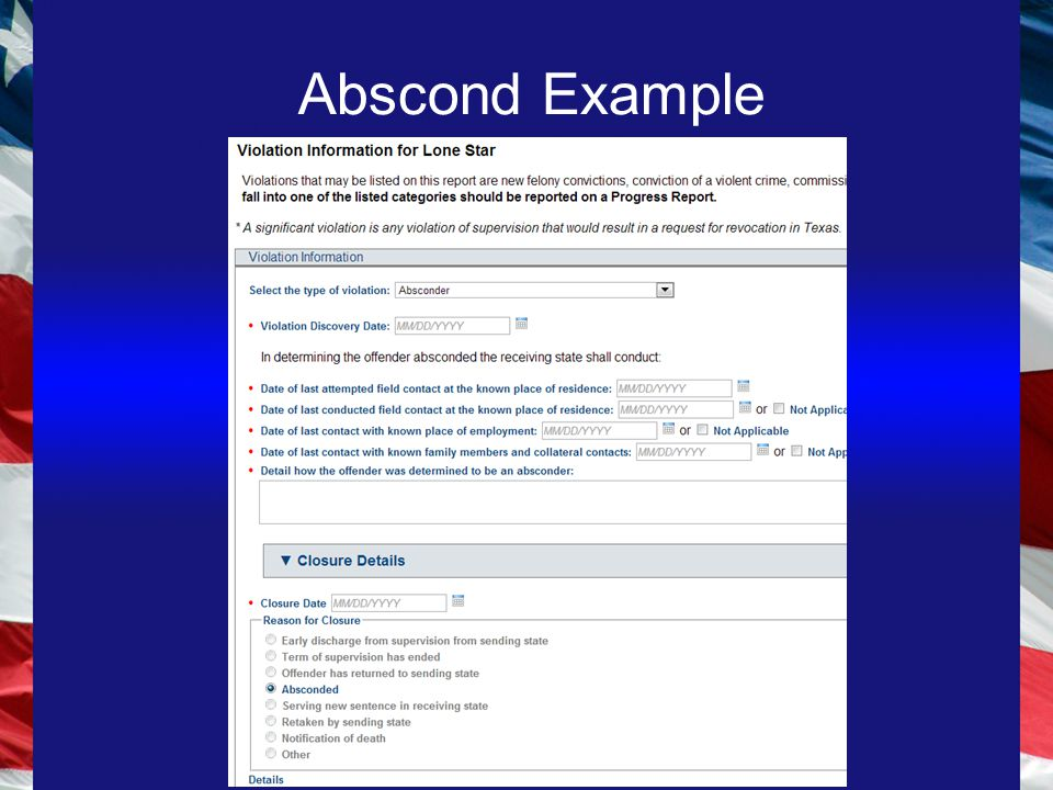 Abscond Example