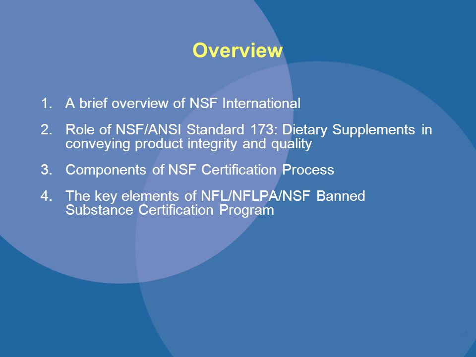 Nsf International Ensuring Product And Athlete Integrity Through