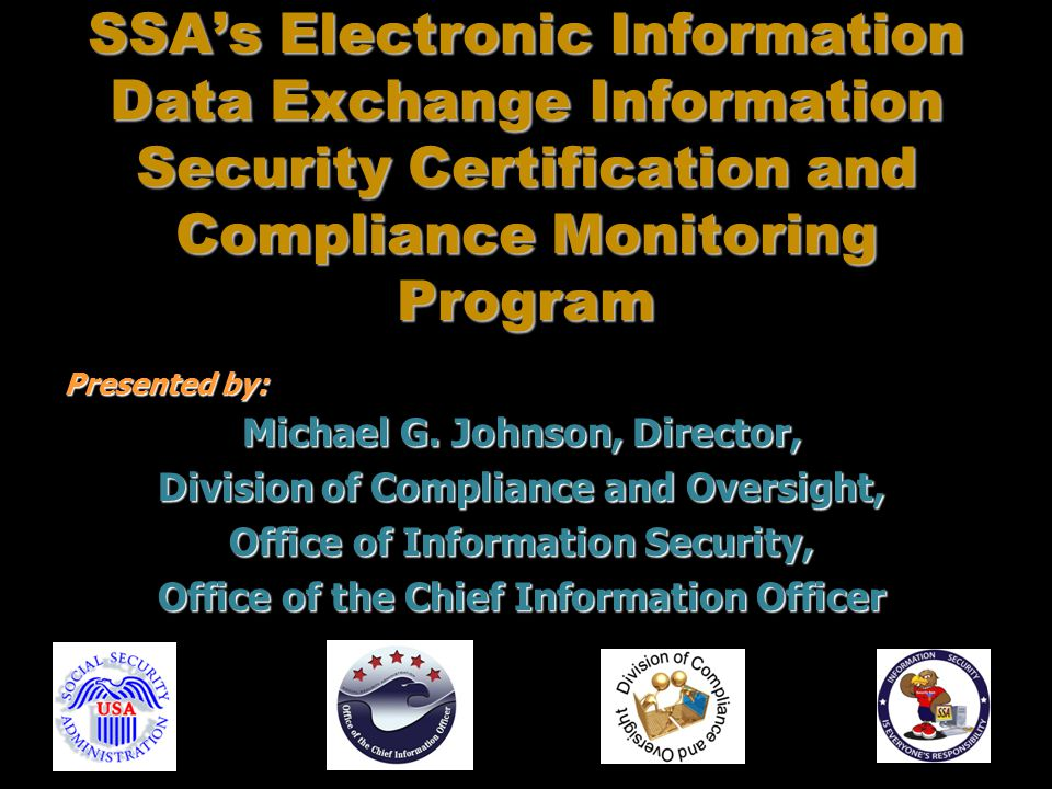 Ssas Electronic Information Data Exchange Information Security