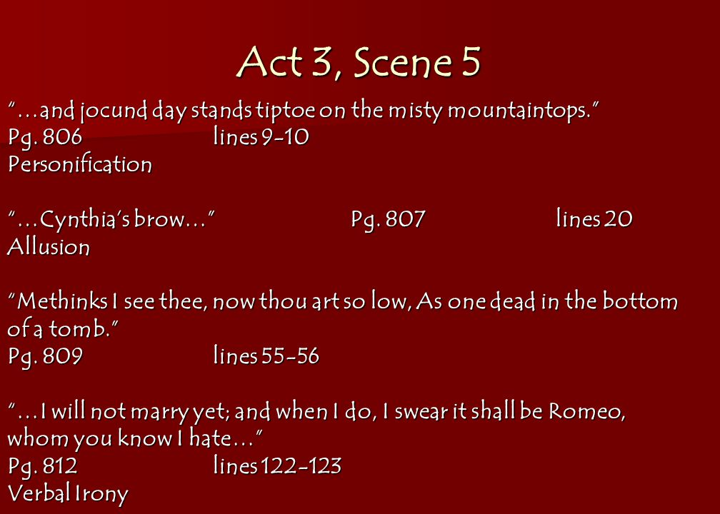 Example Of An Allusion In Romeo And Juliet Image Collections