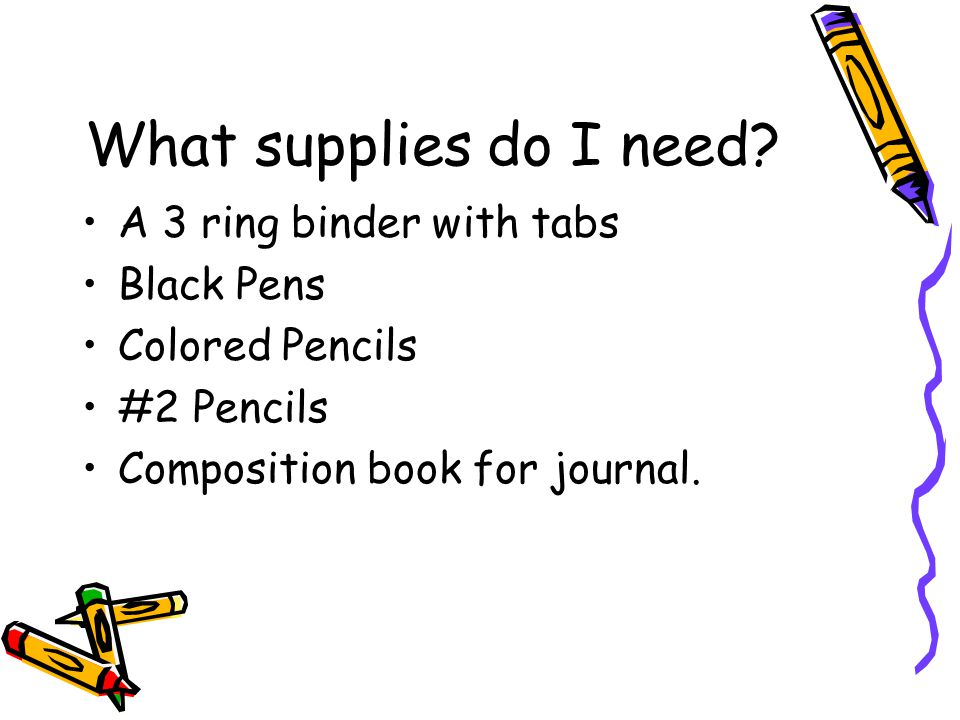 What supplies do I need.