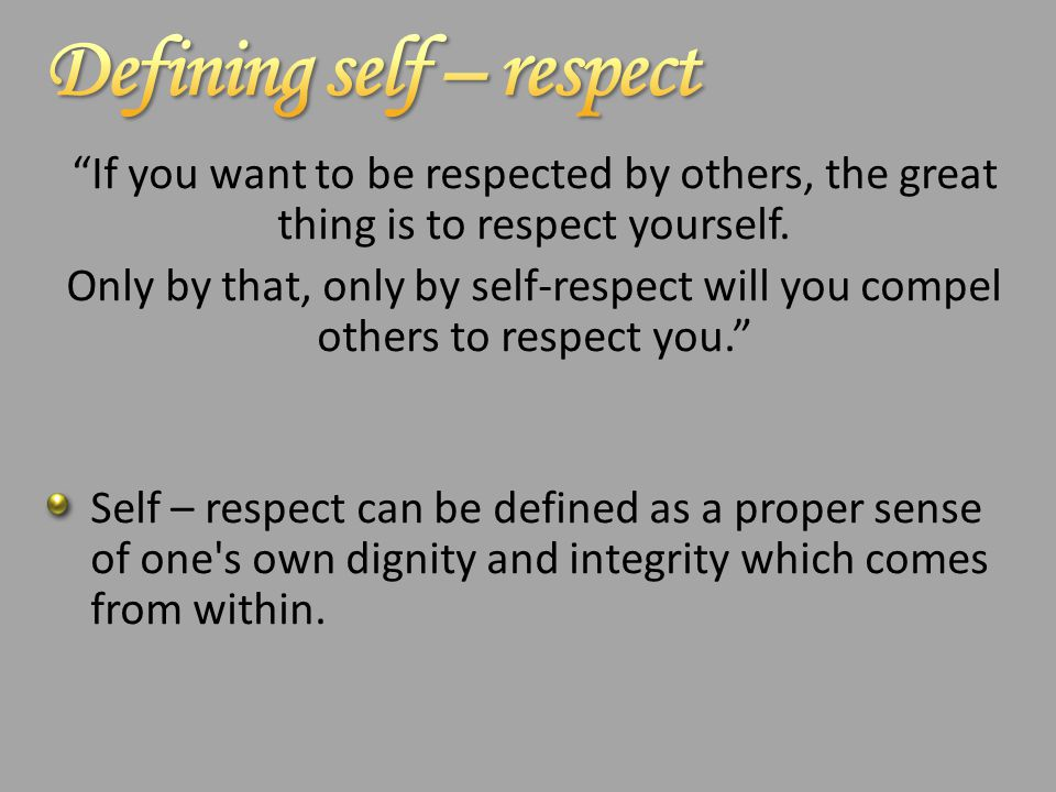 respect for others meaning