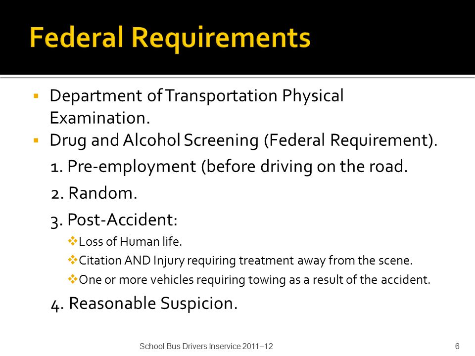  Department of Transportation Physical Examination.