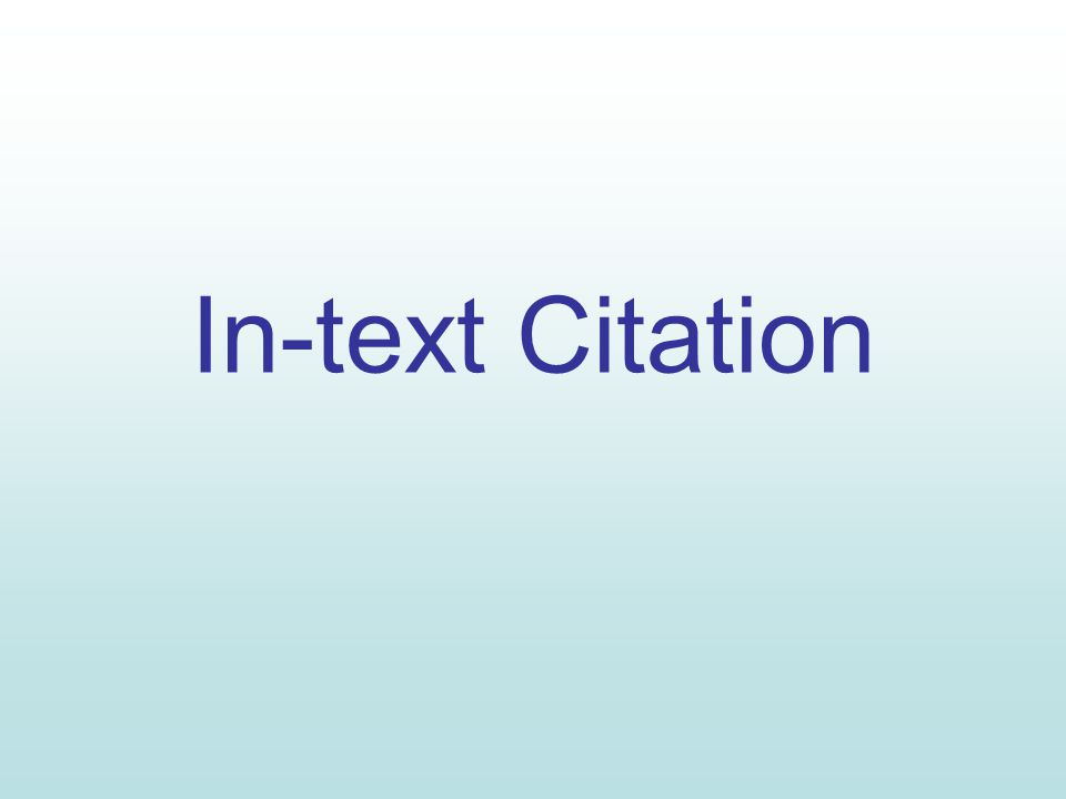 In Text Citation MLA Citations Have A Clear And Precise