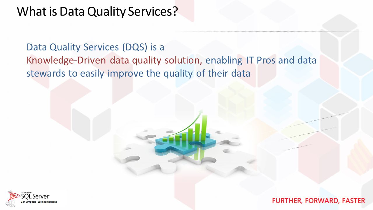Data Quality Services (DQS) is a Knowledge-Driven data quality solution, enabling IT Pros and data stewards to easily improve the quality of their data