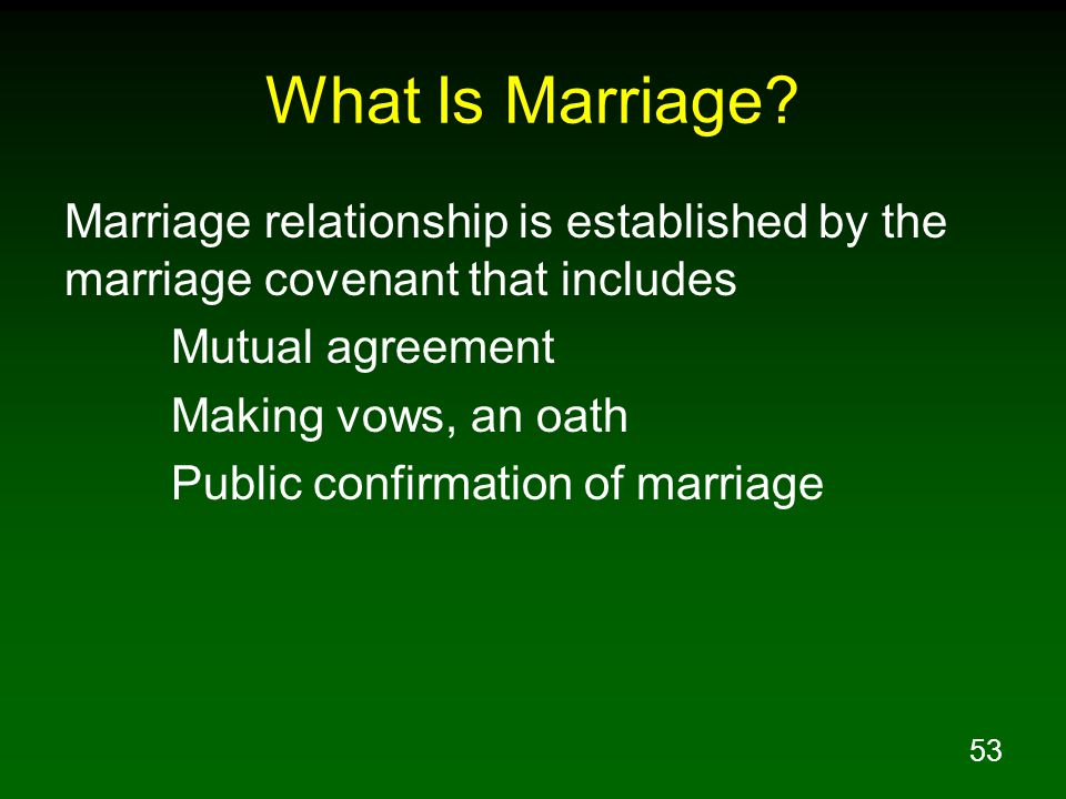 53 What Is Marriage.