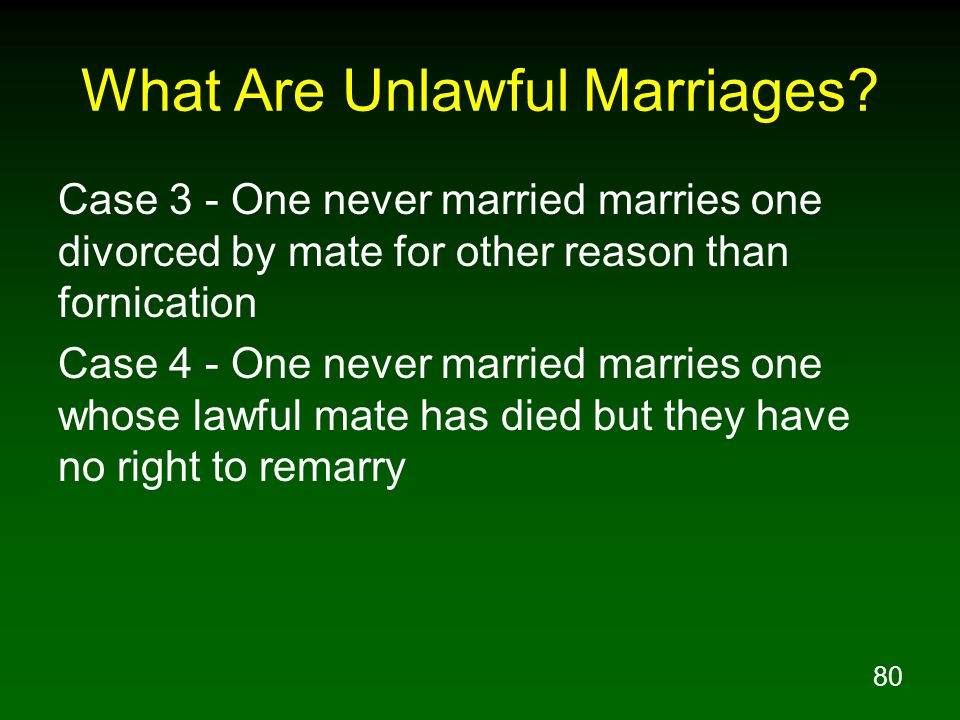 80 What Are Unlawful Marriages.