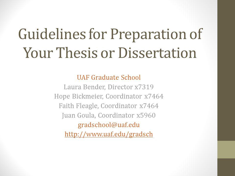 uaf thesis format